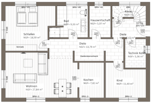 Grundriss EG - Projekt Klosterwiese