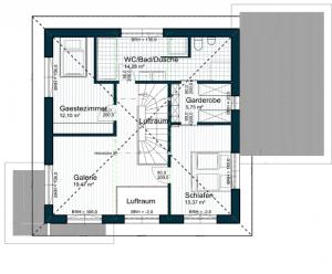 Projekt Untermeiselstein - Grundriss OG